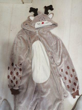 pijama de una pieza invierno con cremallera polar