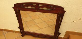 Espejo en madera art decó