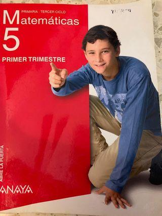 Libro de matematicas 5 de primaria