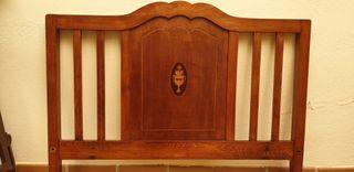 Cabezal de cama madera artdeco