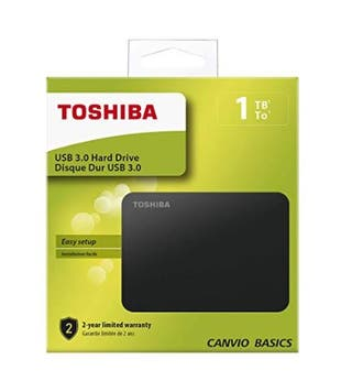 Disco duro externo, TOSHIBA, 1 tb
