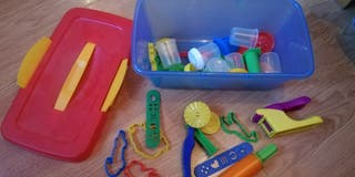 Caja plastelina, juguete