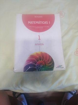 Libro Matemáticas I Anaya bachillerato de ciencia