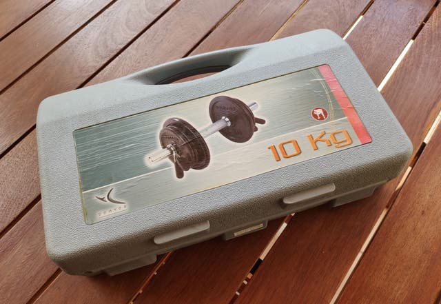 Kit mancuerna de 10Kg con maletín
