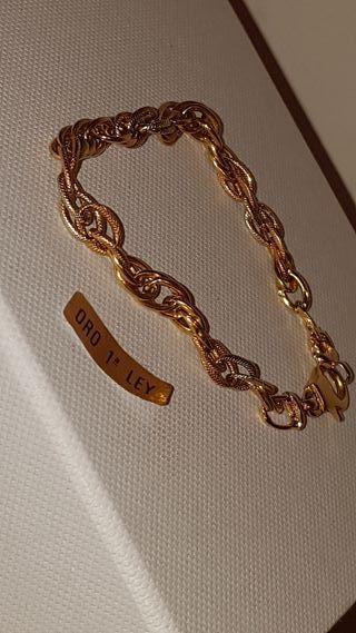 Pulsera de oro de 18 kilates y 19 cm