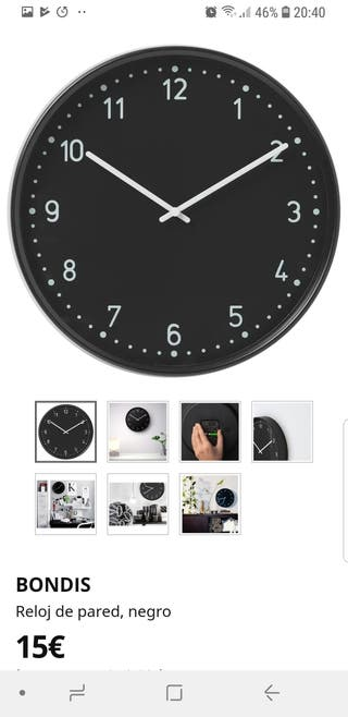 Reloj de pared Bondis IKEA