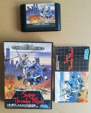 Mega Drive Super Thunder Blade Completo