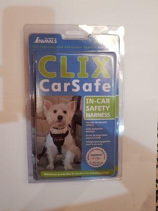 vendo arnés de coche para perro clix carsafe M