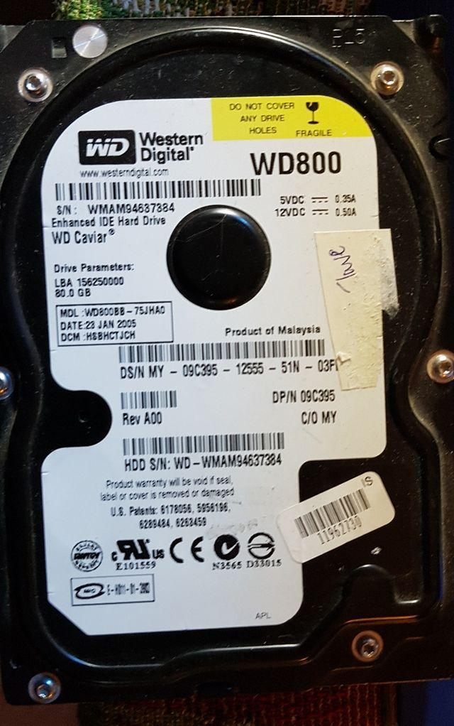 disco duro 80 gb