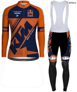 Equipación ciclismo térmica KTM-11 t.S,M,L,XL,XXL