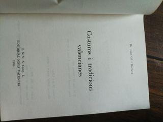 """Libro""""Costums i tradicions valencianes"""""""