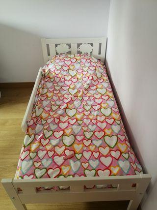 conjunto ikea cama+colchon+nordico+sabanas