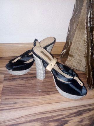 Preciosas sandalias 10cm tacon n 38