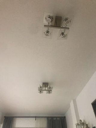 Lámpara de techo con 4 bombillas de bajo consumo
