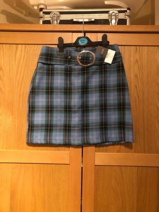 Topshop blue tartan skirt
