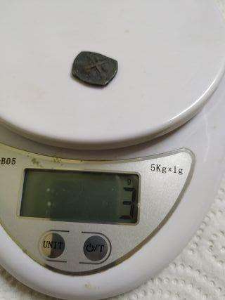 macuquina medio real de plata