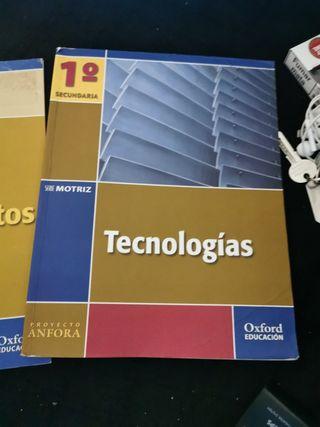 Libro y cuadernillo de Tecnología 1 secundaria