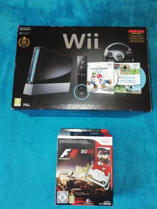 Consola Wii Mario Kart Wii Pack+juegos