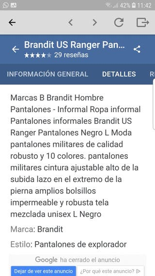 PANTALON RANGER
