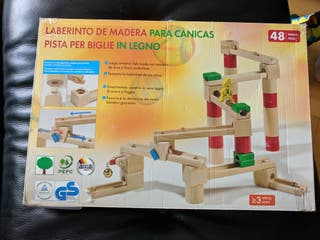 LABERINTO DE MADERA PARA CANICAS