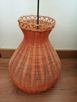 lampara de vímet, color taronja