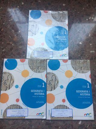 Libros de 1 eso de geografía i historia