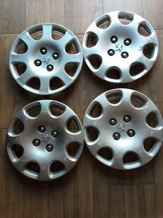4 tapacubos Peugeot