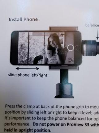 GIMBAL PROVIEW S3 Estabilizador smartphones