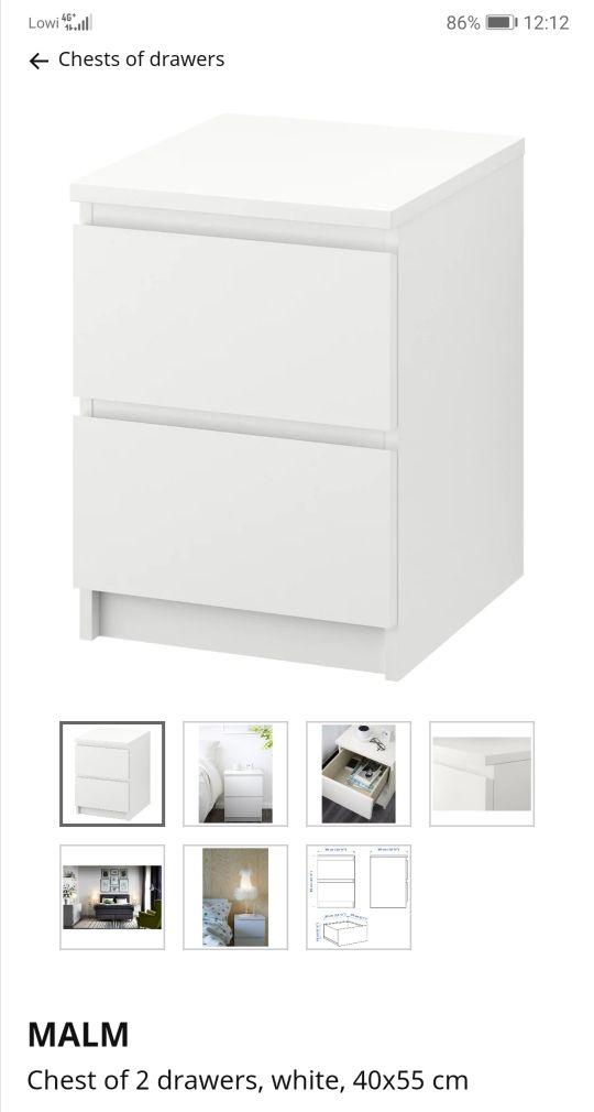 Mesita De Noche Ikea Malm.Mesita De Noche Ikea Malm Color Blanco De Segunda Mano Por