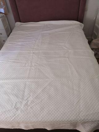 colcha de piqué para cama de 90 cm
