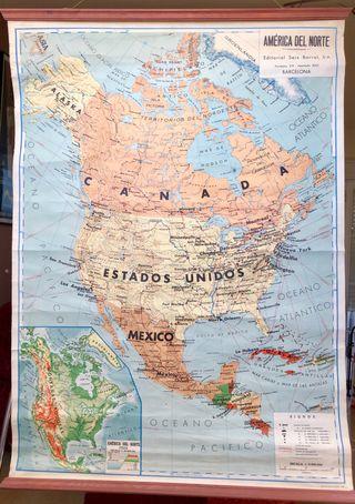 Gran mapa antiguo de America