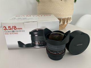 Samyang 3.5 8mm Fish-Eye CS II Canon Ojo de pez