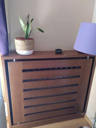Mueble Cubre radiador roble