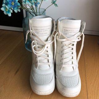 Sneakers blancas cuña 8 cm