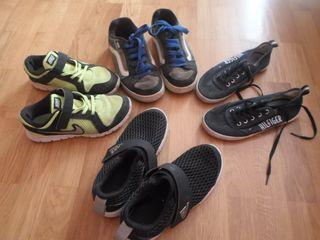 4 zapatillas nike vans adidas hilfiger talla 35 36 de