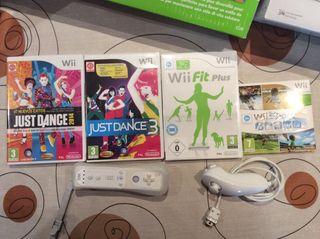 Wii + Wii fit plus+ 6 juegos +3 mandos