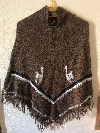 Poncho de lana Alpaca