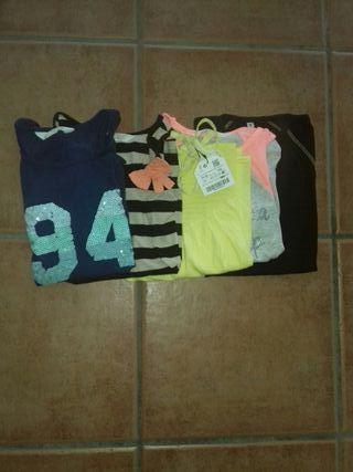 5 camisetas de tirantes