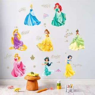 Vinilo decorativo sticker pared princesas disney