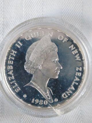 1 dólar de plata new zealand