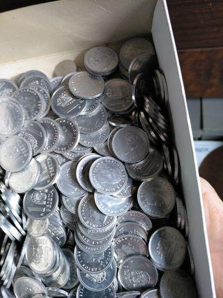 caja monedas 1 peseta
