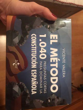 Libro 1040 preguntas constitución española