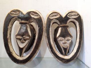 Pareja Máscaras africana etnia kwele