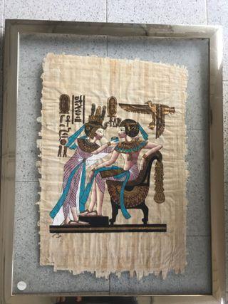 Papiro con marco y cristal