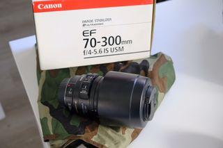 CanonEF 70-300mm f/4-5.6 IS USM + regalos