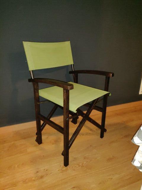 silla director de cine antigua