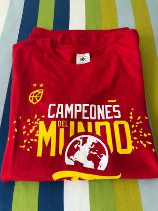 Camiseta campeones del mundo FEB