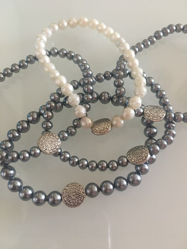 Lote 30 pulseras de perla
