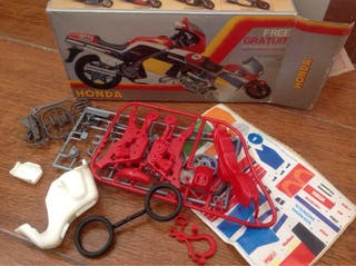 Montaplex Moto Honda,retro Vintage Juguete