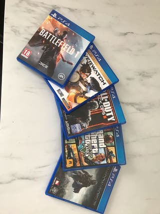 PS4 500GB with games controllers and headset